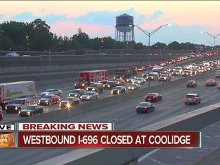 Wrong way driver shuts down I-696