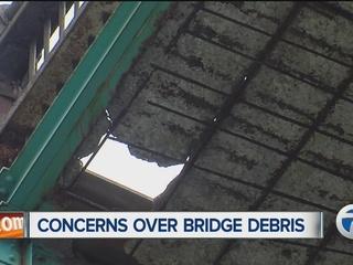 Concerns over debris from the Ambassador Bridge