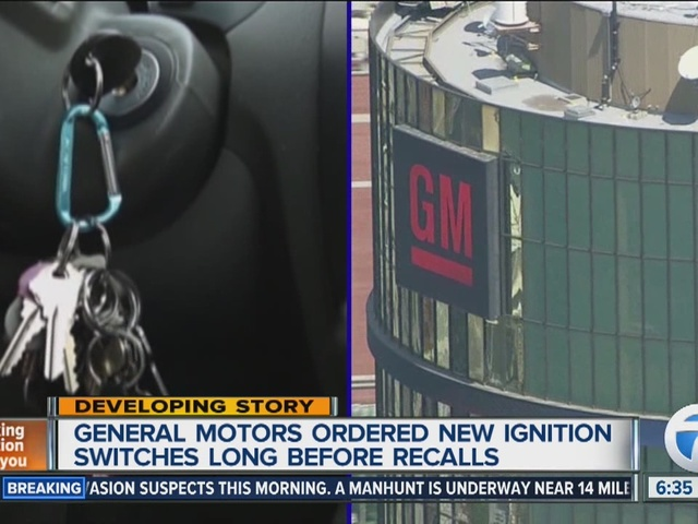 report general motors ordered replacement ignition