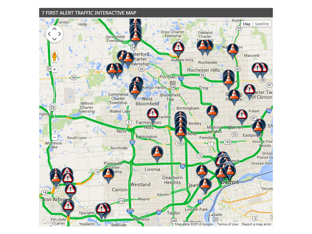 detroit traffic report