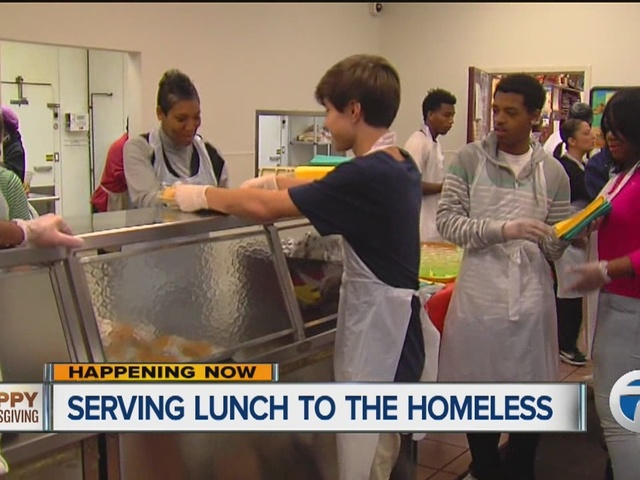 Local Soup Kitchen Serving Food To The Homeless