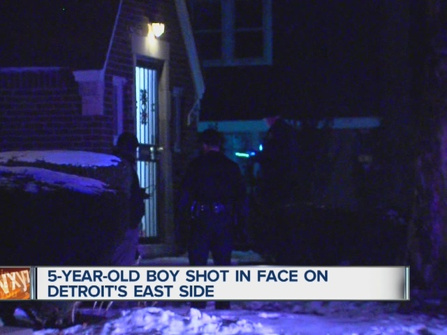 5-year-old boy shot in face on city's east side