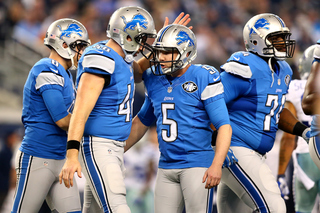Prater's clutch kicking helping Lions succeed