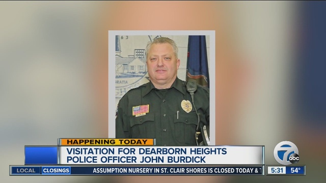 visitation today for dearborn heights police officer found dead in garage wxyzcom