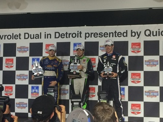 Carlos Munoz gets first IndyCar win in Detroit