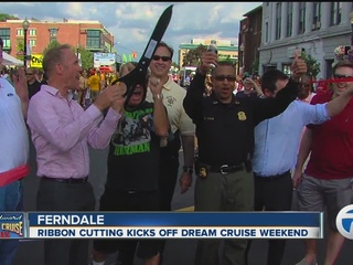 Ribbon cut on 2015 Woodward Dream Cruise