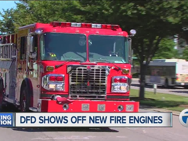 Detroit Fire Department unveils five new engines in effort to ...