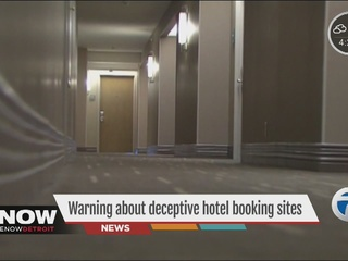 Warning about deceptive hotel booking websites