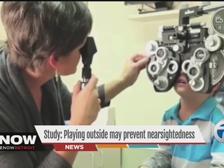 Playing outdoors could be good for eye health?