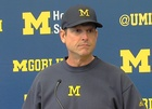 WATCH: Harbaugh homers at U-M softball field