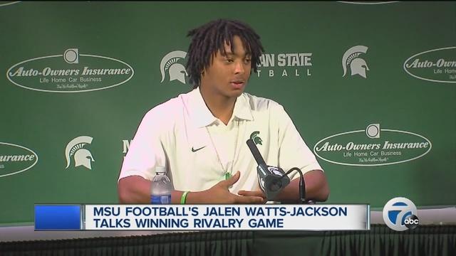 Michigan State hero Watts-Jackson praises University of Michigan hospital