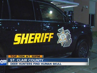 Hunters find human skull in St. Clair County