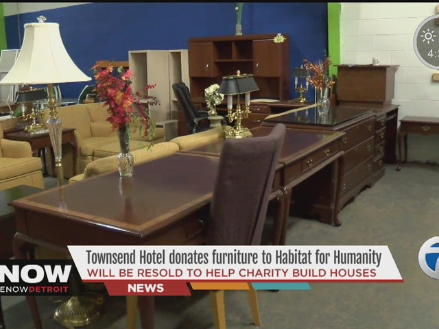 Townsend Hotel donates furniture to Habitat for Humanity