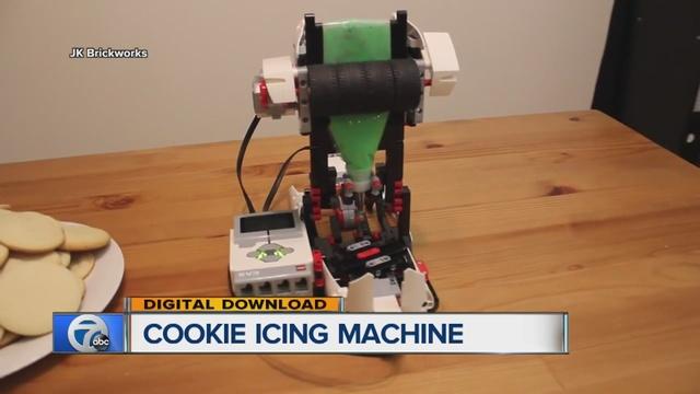 cookie icing machine