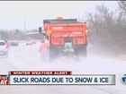Winter storm makes for dicey drive