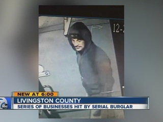 Serial burglar may be hitting Livingston County