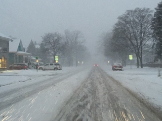 Lake effect snow hits Port Huron and Thumb