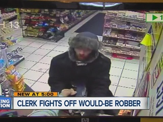 Clerk fights off robber with an assault rifle