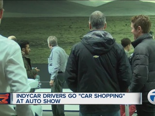 IndyCar drivers shop for cars at Auto Show