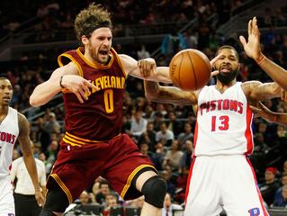 Love, Irving sharp as Cavaliers beat Pistons