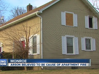 Man arrested for fire in Monroe apartment