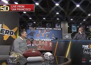 Harbaugh, Cowherd reconnect at Super Bowl