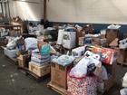 School supplies drive donations fill semi trucks