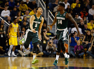 Forbes hot from long range; No. 10 MSU routs U-M