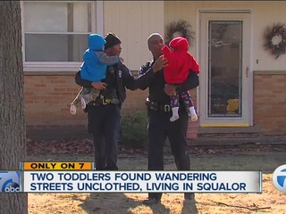 Neighbor finds two toddlers wandering alone