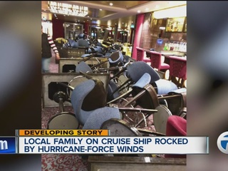 Local family praises cruise captain after storm