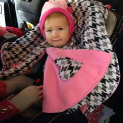 Mom's idea keeps kids warm, safe in car seat
