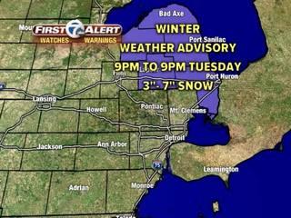 FORECAST: Winter Weather Advisory tonight
