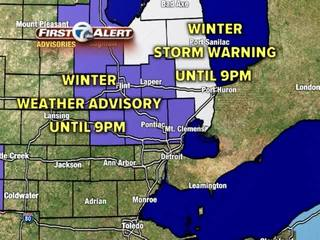 FORECAST: Winter Storm Warning & Advisories