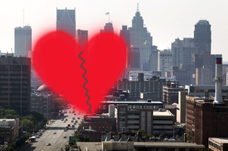 Detroit ranked as bad city for Valentine's Day