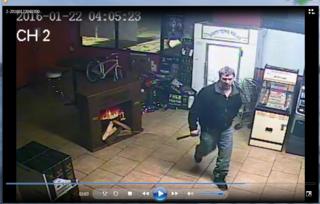 Police search for liquor store break-in suspect