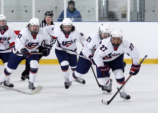 Roque excelling as only girl on boys hockey team