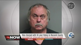 Man accused of raiding Macomb Co. parking meters