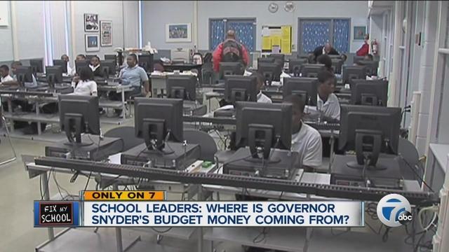 Snyder budget plan focuses on help for Flint, DPS