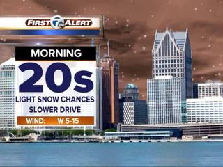 FORECAST: Snow squalls, cold air