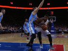 Nuggets hold off shorthanded Pistons