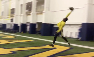 VIDEO: U-M's Darboh does his best OBJ impression