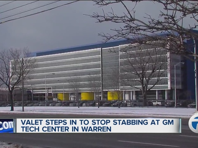 Valet steps into stop stabbing at GM Tech Center