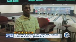 Grant Me Hope: Qua'Von enjoys sports & video ga
