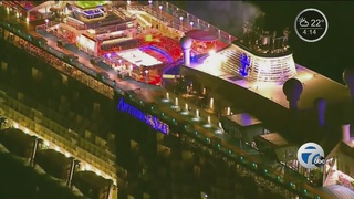 Passengers on cruise ship in storm return home