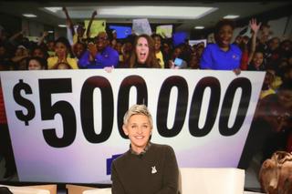 WATCH: Ellen's huge Detroit school donation
