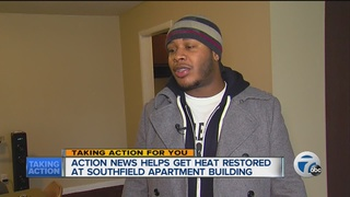 WXYZ works to get heat for apartment residents