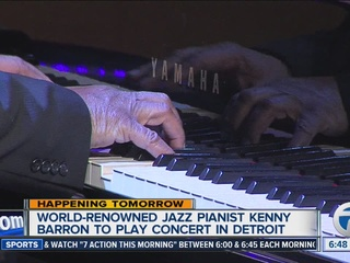 Jazz pianist Kenny Barron playing in Detroit