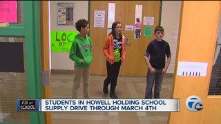 Howell students hold supply drive for DPS