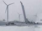 PHOTOS: Wind turbine comes down in Huron County
