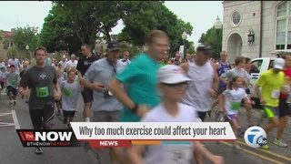 Exercising too hard could hurt your health